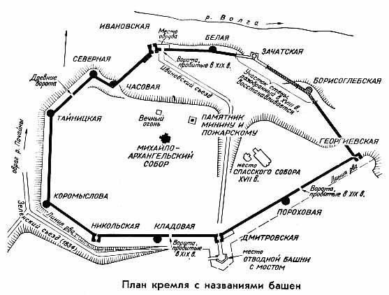План кремля Ростова на чертеже